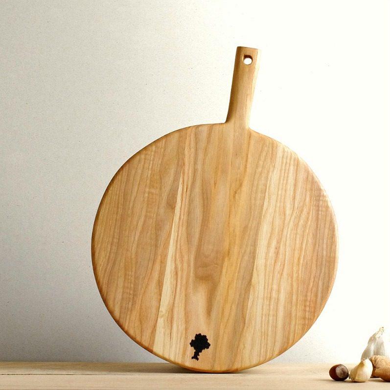 Ash Wood Round Cutting Board