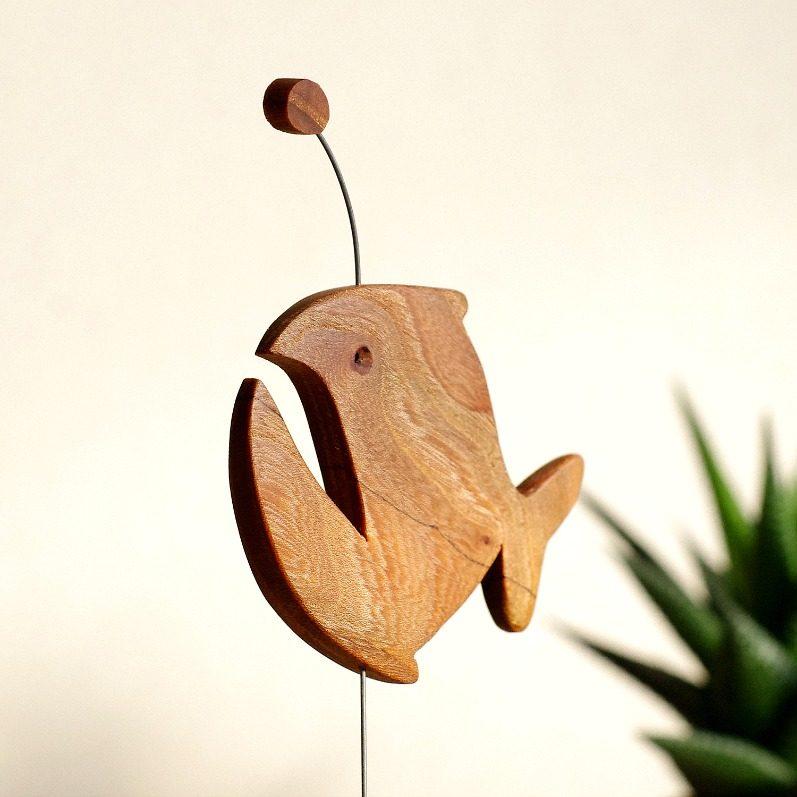 Wooden Lantern Fish